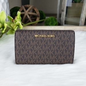 🌺Michael Kors Slim bifold wallet brown MK